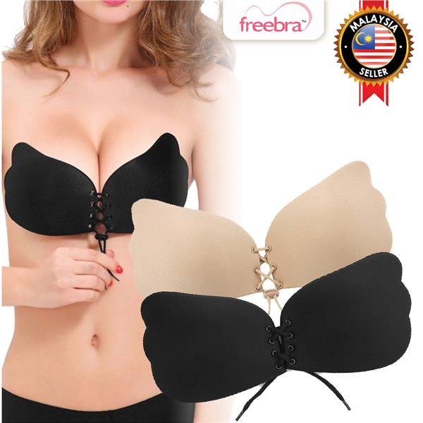 d0f6d9277a FreeBra Invisible Strapless Butterfly Nu Bra Silicone Push-Up A