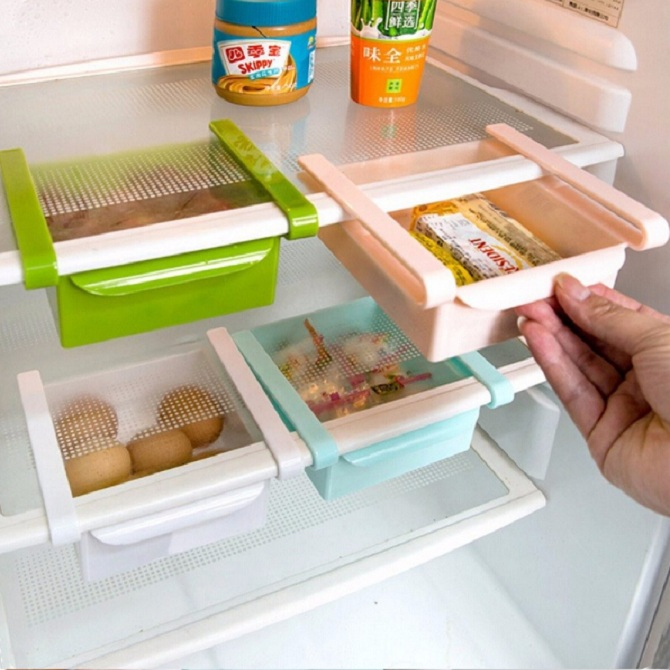Pleasing Freezer Shelf Holder Pull Out Drawer Organizer Space Saver Home Interior And Landscaping Transignezvosmurscom