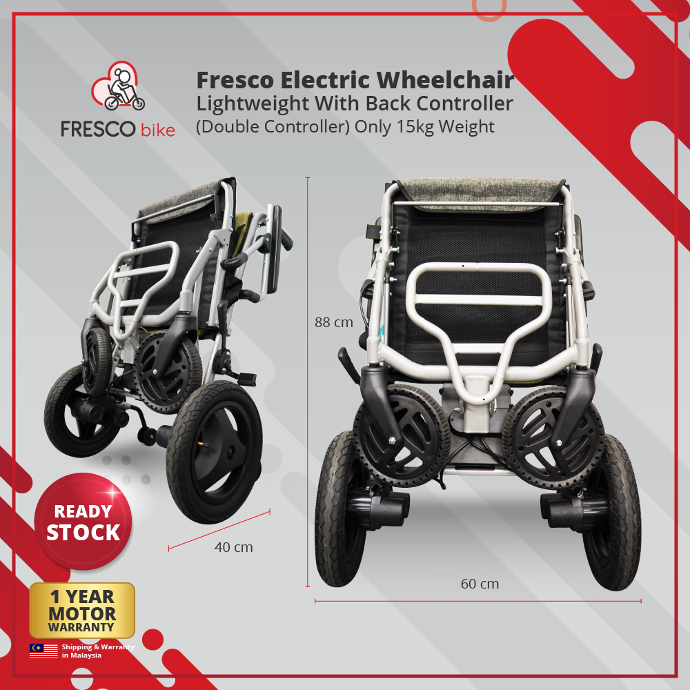 Fresco Electric Wheelchair Lightweight (Double Controller) 15kg