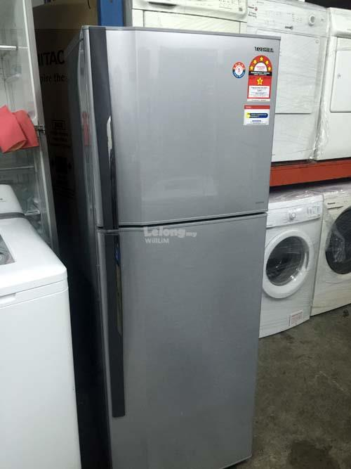 Fridge Toshiba Peti Ais Sejuk Refrigerator Silver Refurbish Recon Ice