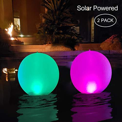 Fromusa Floating Pool Lights Inflatable Waterproof Ip68 Solar Glow Globe14â