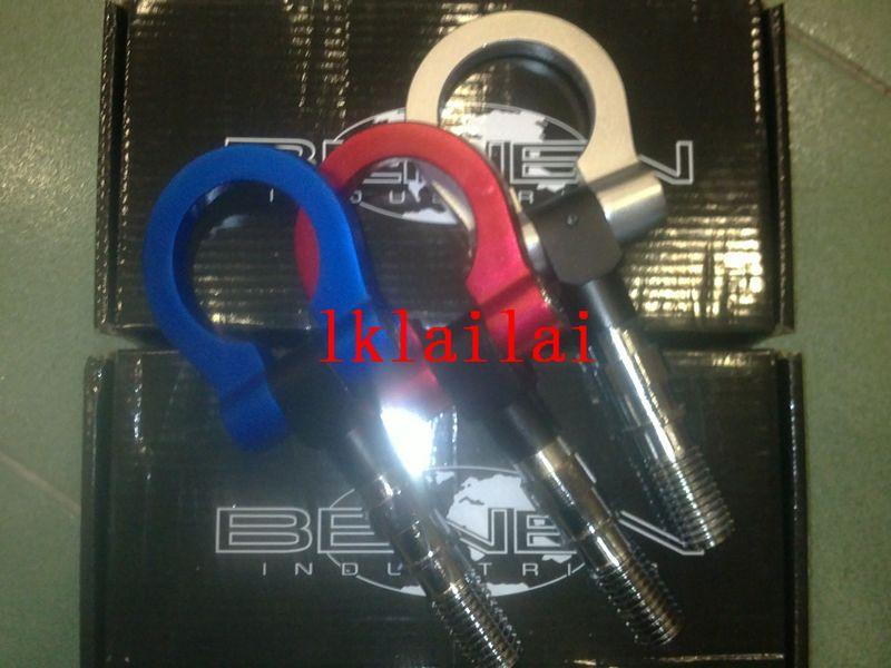 Front Bumper Tow Hook Aluminium [Black/Titanium/Silver/Gold/Red/Blue]