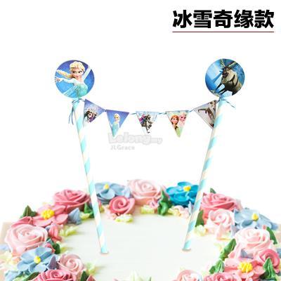 Frozen Anna Elsa Cake Topper Bunting Decoration
