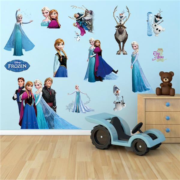 frozen elsa & anna cartoon kids room (end 1/9/2020 4:15 pm)