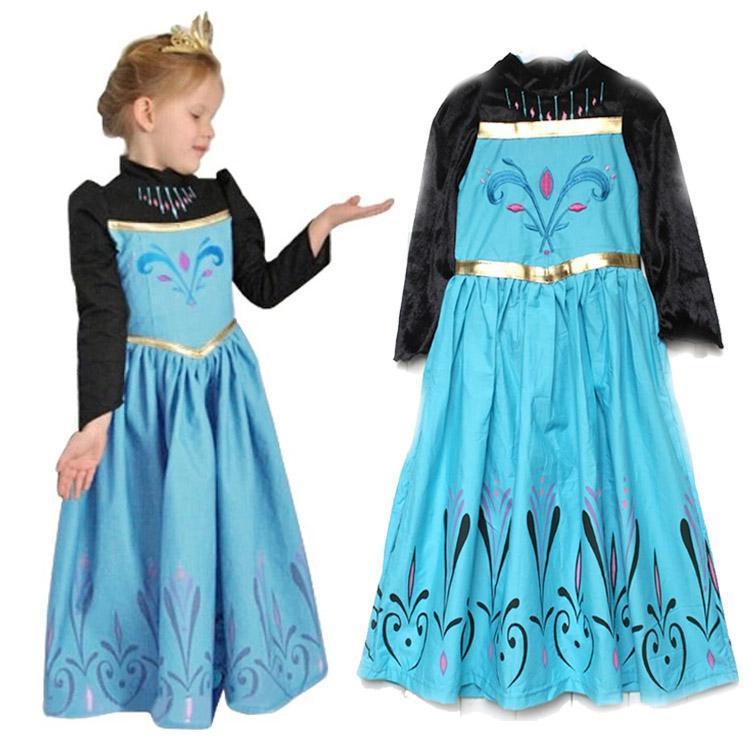 Frozen Elsa Coronation Day Dress Kids Costume Free Gift