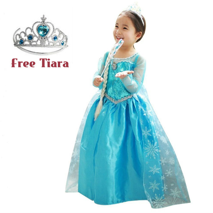 Frozen Elsa Girl Blue Silver Trim Kids Dress Costume *FREE TIARA*  sc 1 st  Lelong.my & Frozen Elsa Girl Blue Silver Trim K (end 5/21/2020 11:05 AM)