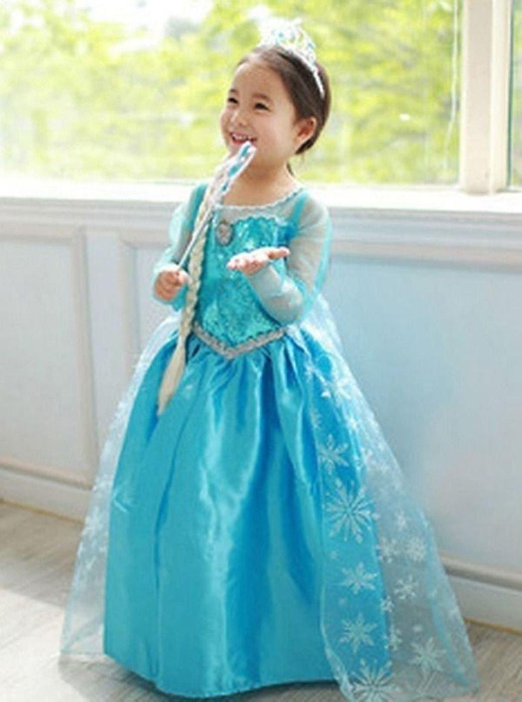 Frozen Elsa Girl Blue Silver Trim Kids Dress Costume *FREE TIARA*  sc 1 st  Lelong.my & Frozen Elsa Girl Blue Silver Trim K (end 5/21/2020 11:05 AM)