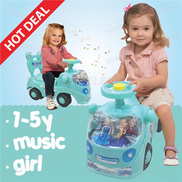 Frozen Girl Kids Baby Walker Car Ride On Music Sound Fun Doll Magical