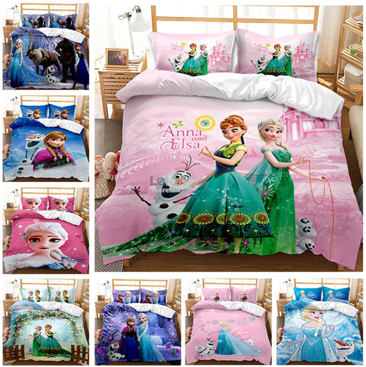 Frozen Kid Duvet Frozen2 Girls Quilt cover pillow case Elsa