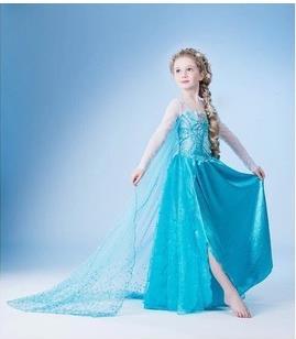 Frozen Queen Elsa Princess Anna Party Dress 15