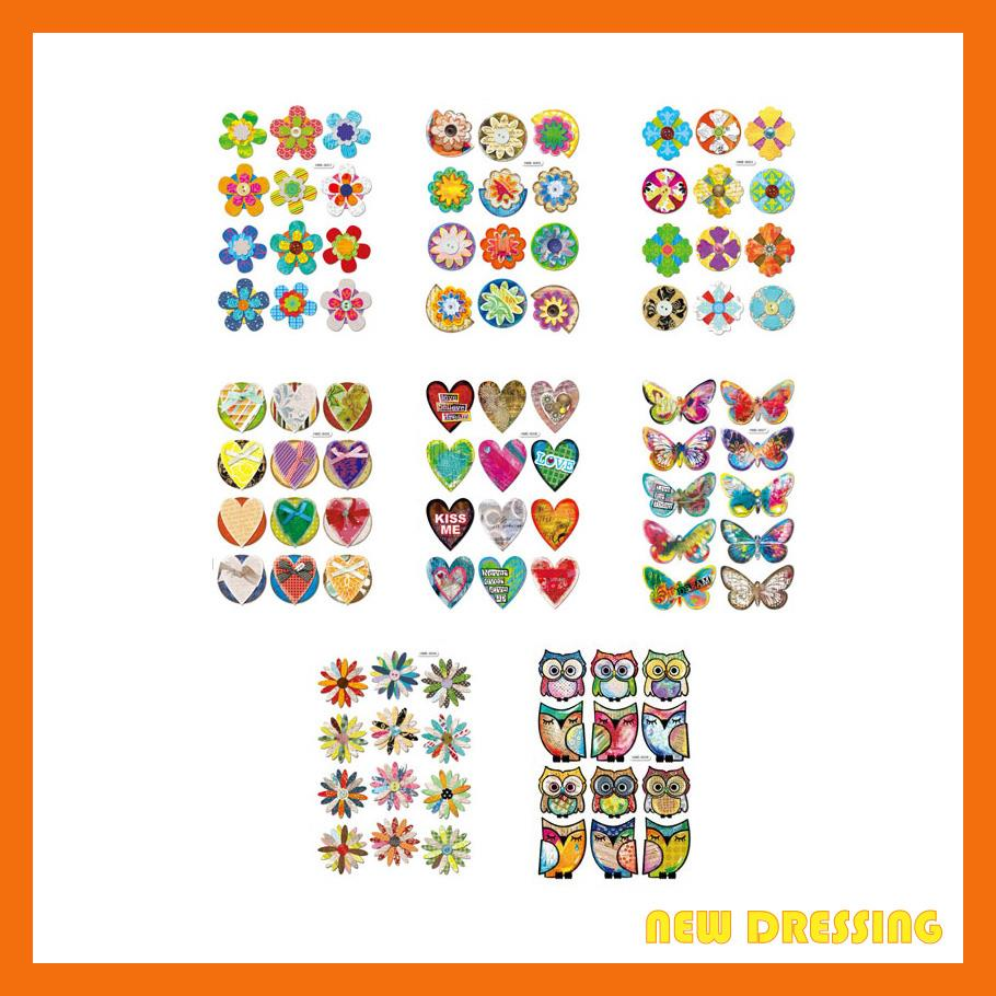 FS003 - Assorted 3D Handmade Embellishment Stickers V1