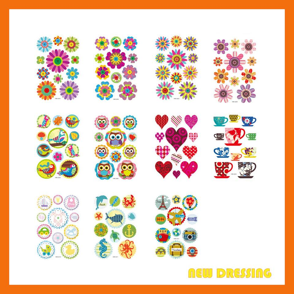 FS004 - Assorted 3D Handmade Embellishment Stickers V2