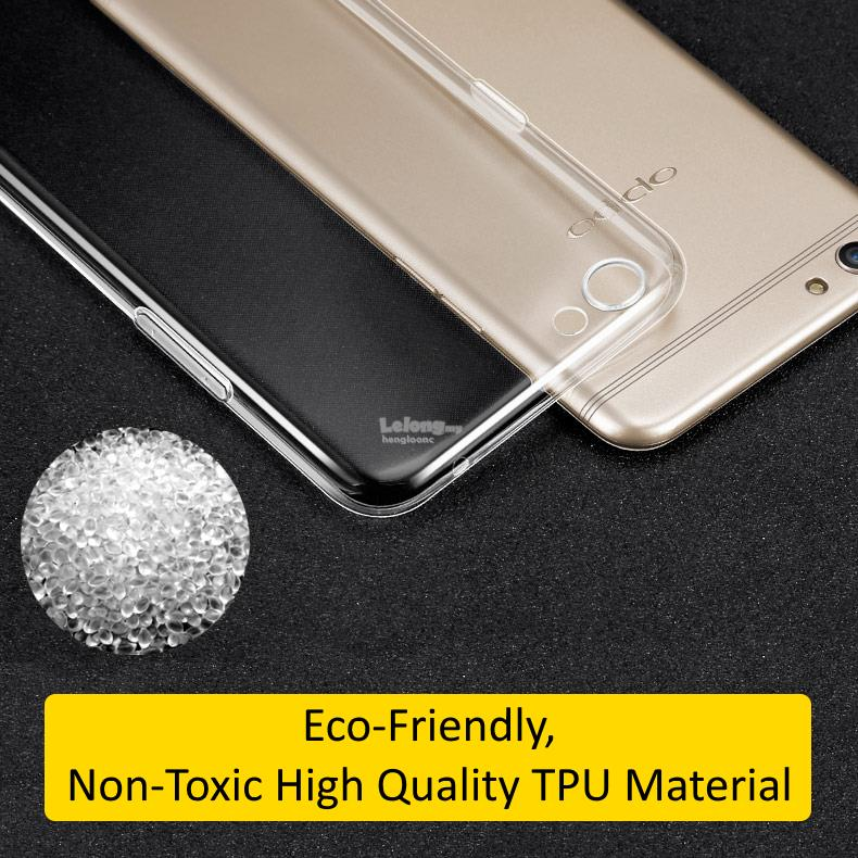 FSHANG OPPO R9S Ultra-Thin Transparent Soft TPU Case