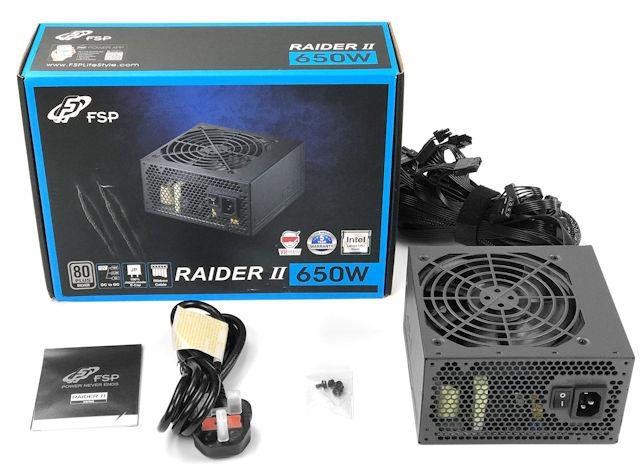 FSP RAIDER II 650W 80 PLUS SILVER POWER SUPPLY FSP-RA2-650