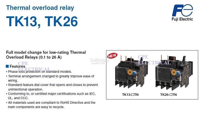FUJI TK26 Thermal Overload Relay TOR
