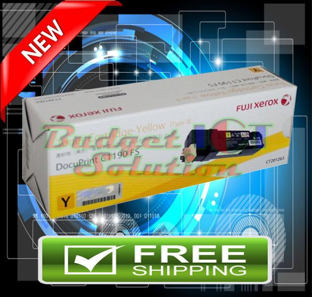 Fuji Xerox C1190 / C1190FS / CT201263 1190 (3K) YELLOW ORIGINAL Toner