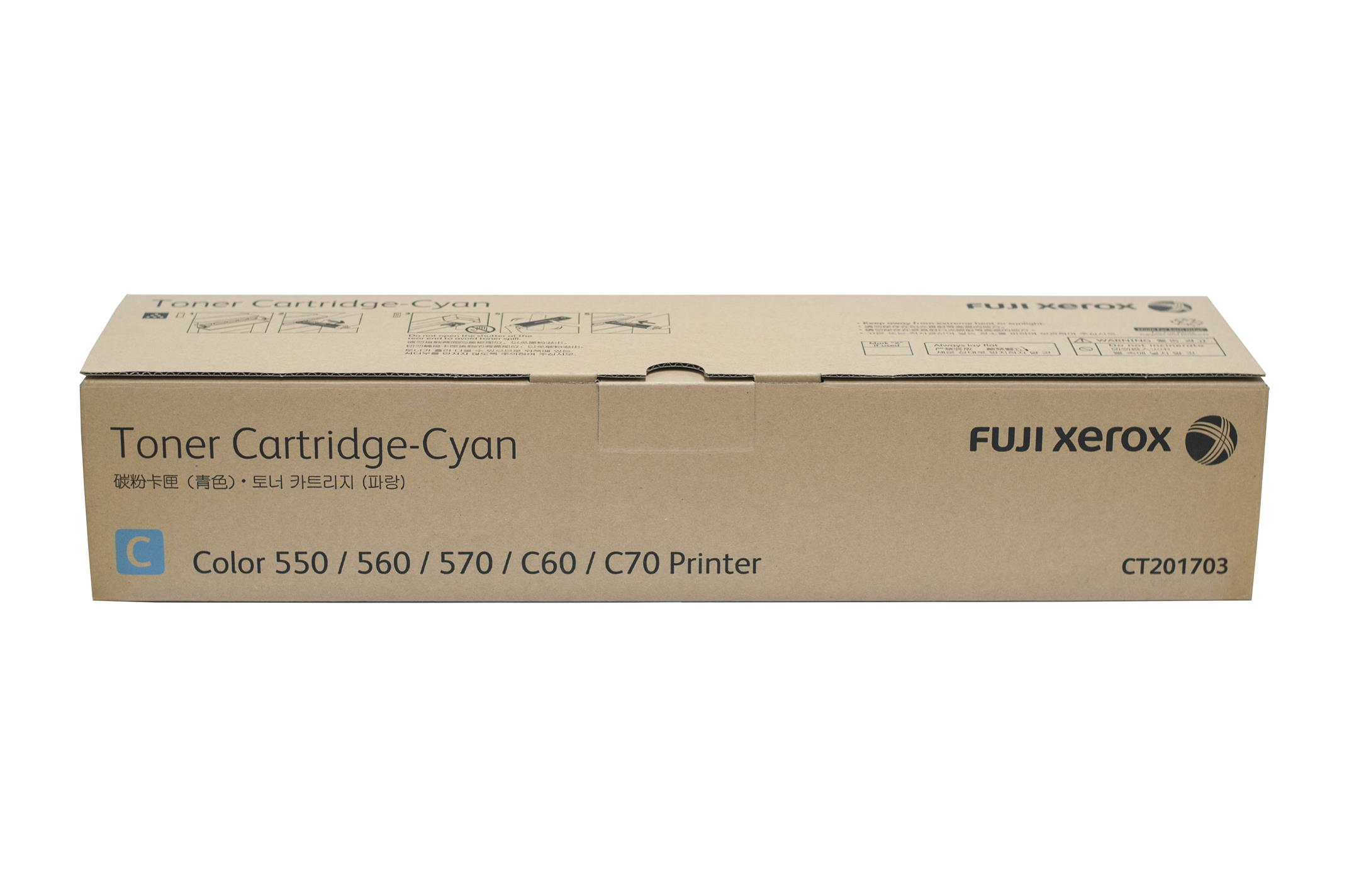 Fuji Xerox CT201703 Cyan (Genuine) 550 560 570 C60 C70 201703