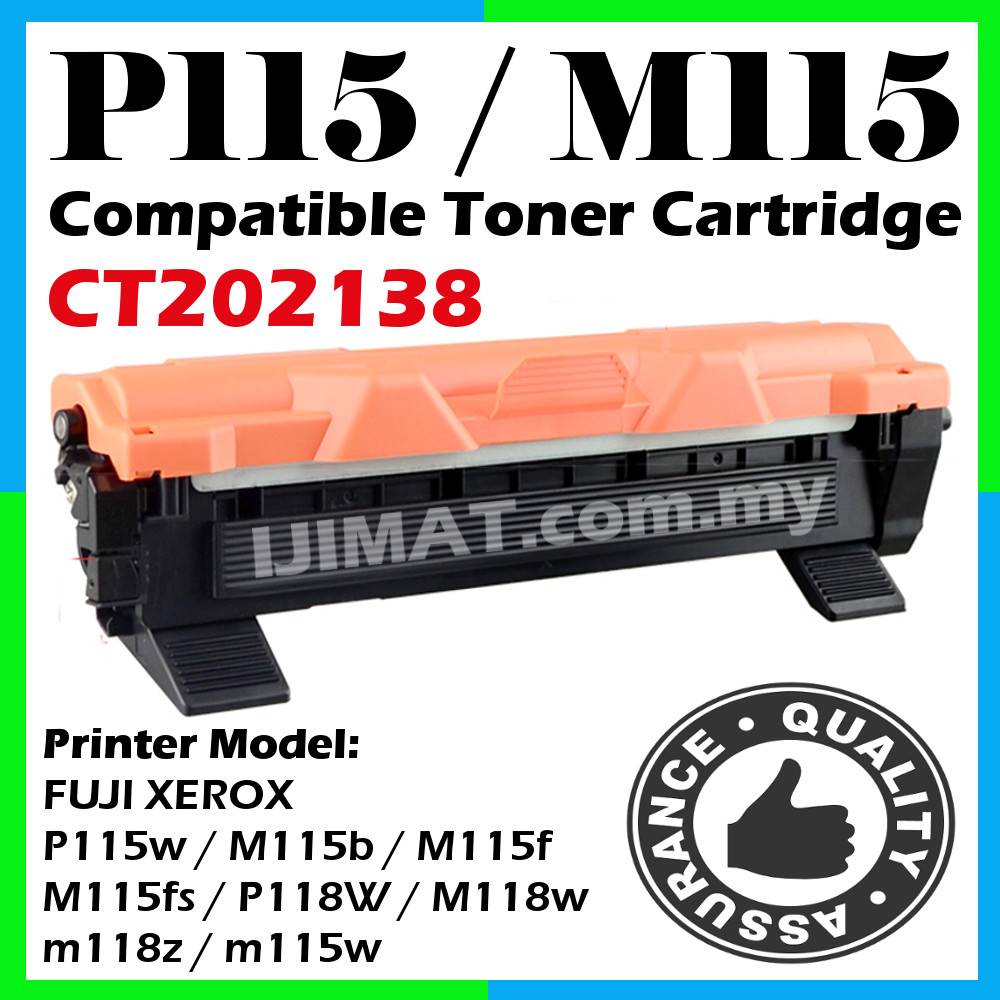 Fuji Xerox CT202138 Toner P115w M115b M115f P118W M118w m118z m115w