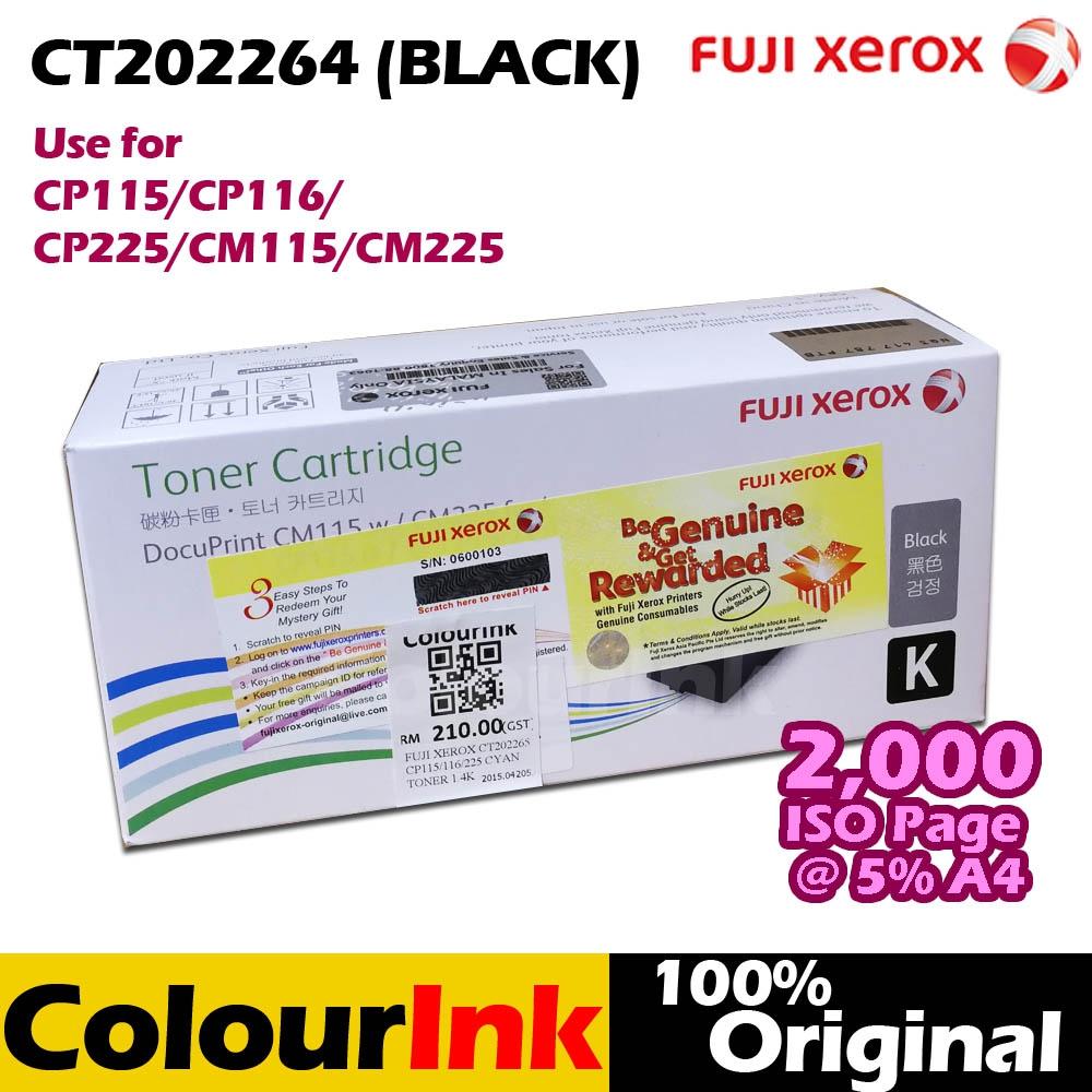 Fuji Xerox Ct202264 Original Black T End 1 5 2020 1246 Am Docuprint Cp115w Toner Cp116w Cp225w Cm115w C