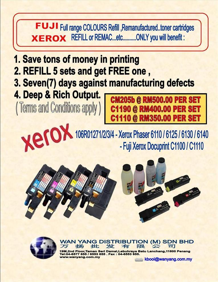 FUJI XEROX Full range COLOUR  toner cartridges Refill