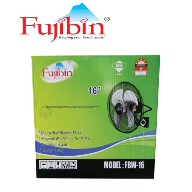 FUJIBIN 16 INCH METAL WALL FAN FBW-16