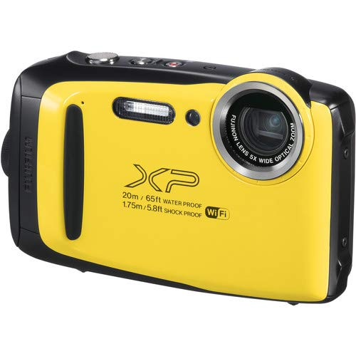 Fujifilm FinePix XP130 Waterproof Digital Camera (Yellow) Accessory Bundle wit