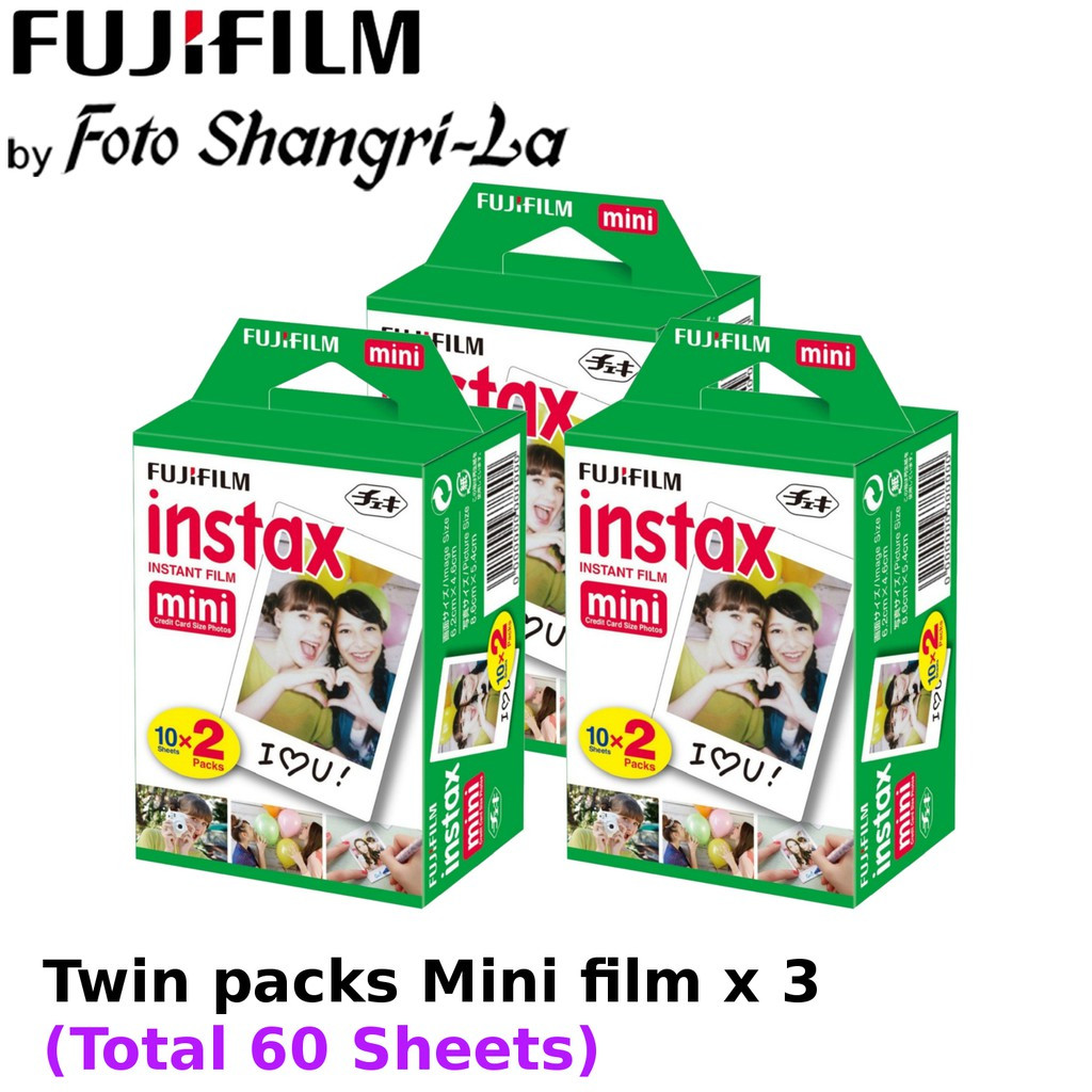 Fujifilm Instax Film Instax Mini Film Twin Pack (x3) 60 Sheets
