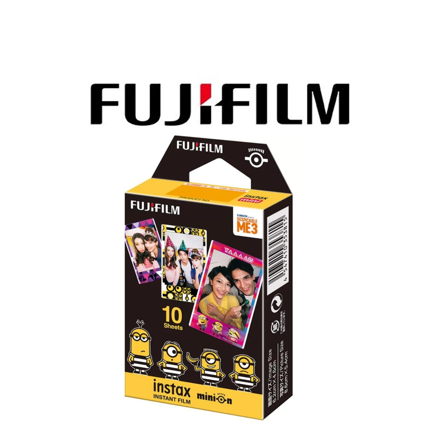 FUJIFILM INSTAX MINI FILM \u2013 MINION - DESPICABLE ME 3 (10 SHEETS)