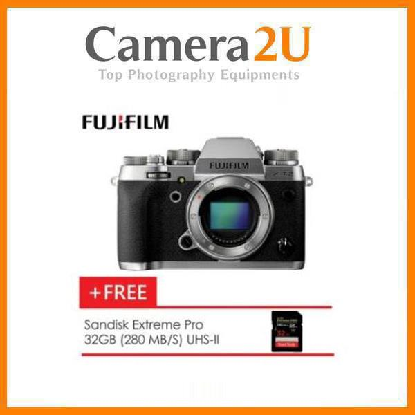 Fujifilm X-T2 Mirrorless Digital Camera (Body Only) with 32gb