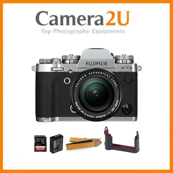 Fujifilm X-T3 XT3 18-55mm Lens Kit (Silver)- Limited Package (MSIA)