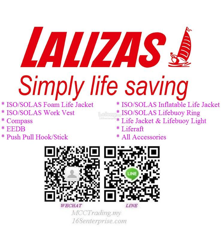 Almost full range Lalizas life saving buoy jacket vest raft compass