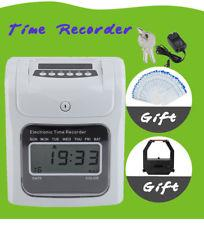 FULLY AUTO TIME RECORDER PUNCH CARD MACHINE ( 20 YEARS WARRANTY )