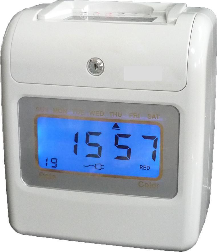 FULLY DIGITAL TIME CLOCK RECORDER PLUS RACK + CARD- 2 YEARS WARRANTY