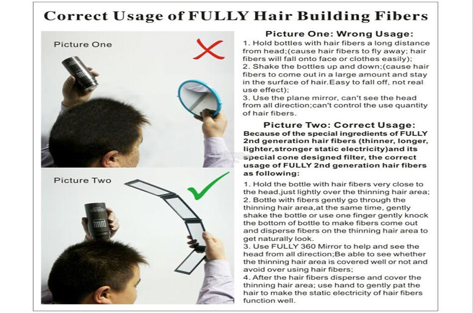 Fully Hair Building Fiber 23g Hair Loss Concealer!
