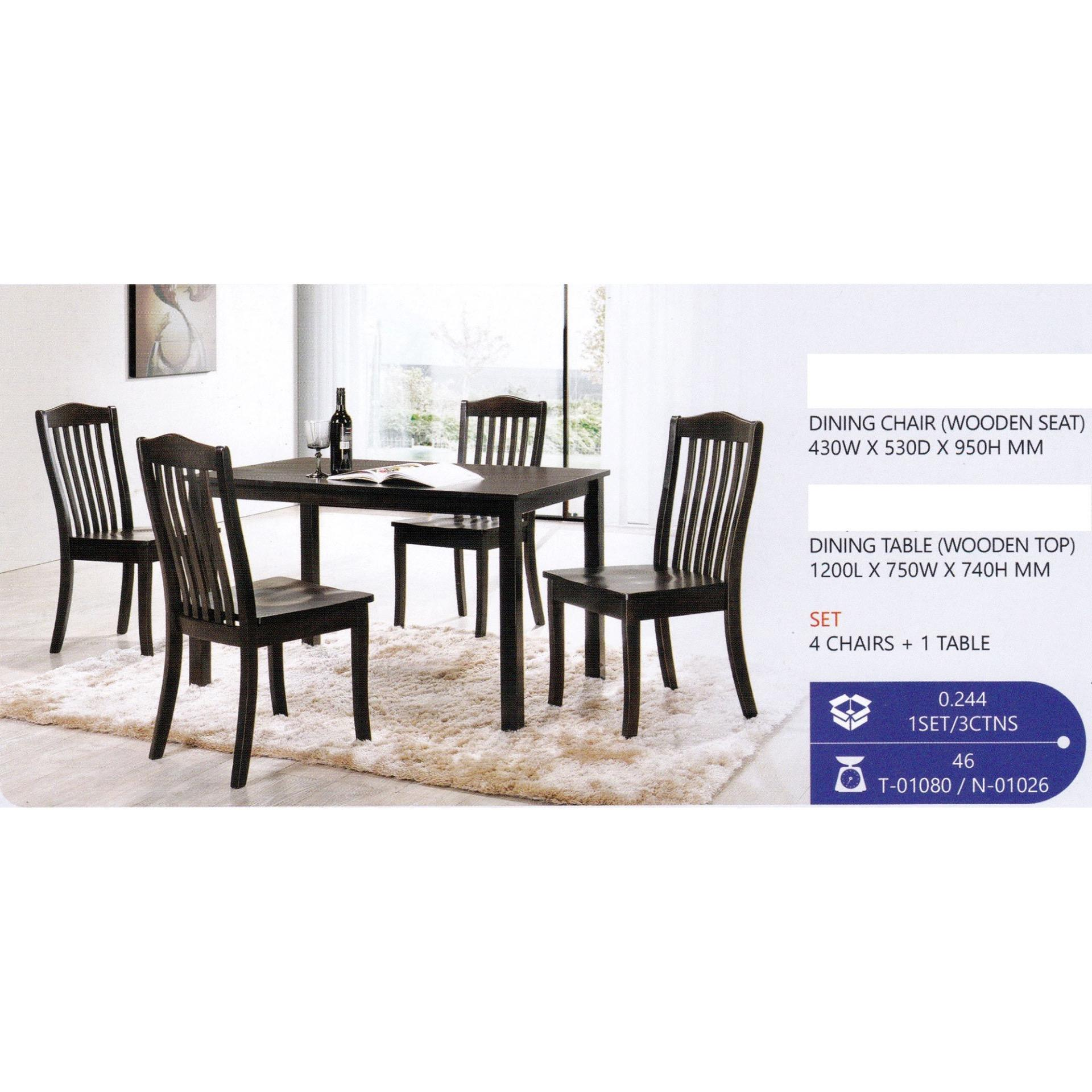 Fully Solid Wood 1 4 Dining Table Chair Set Walnut Pre Order 2 Week