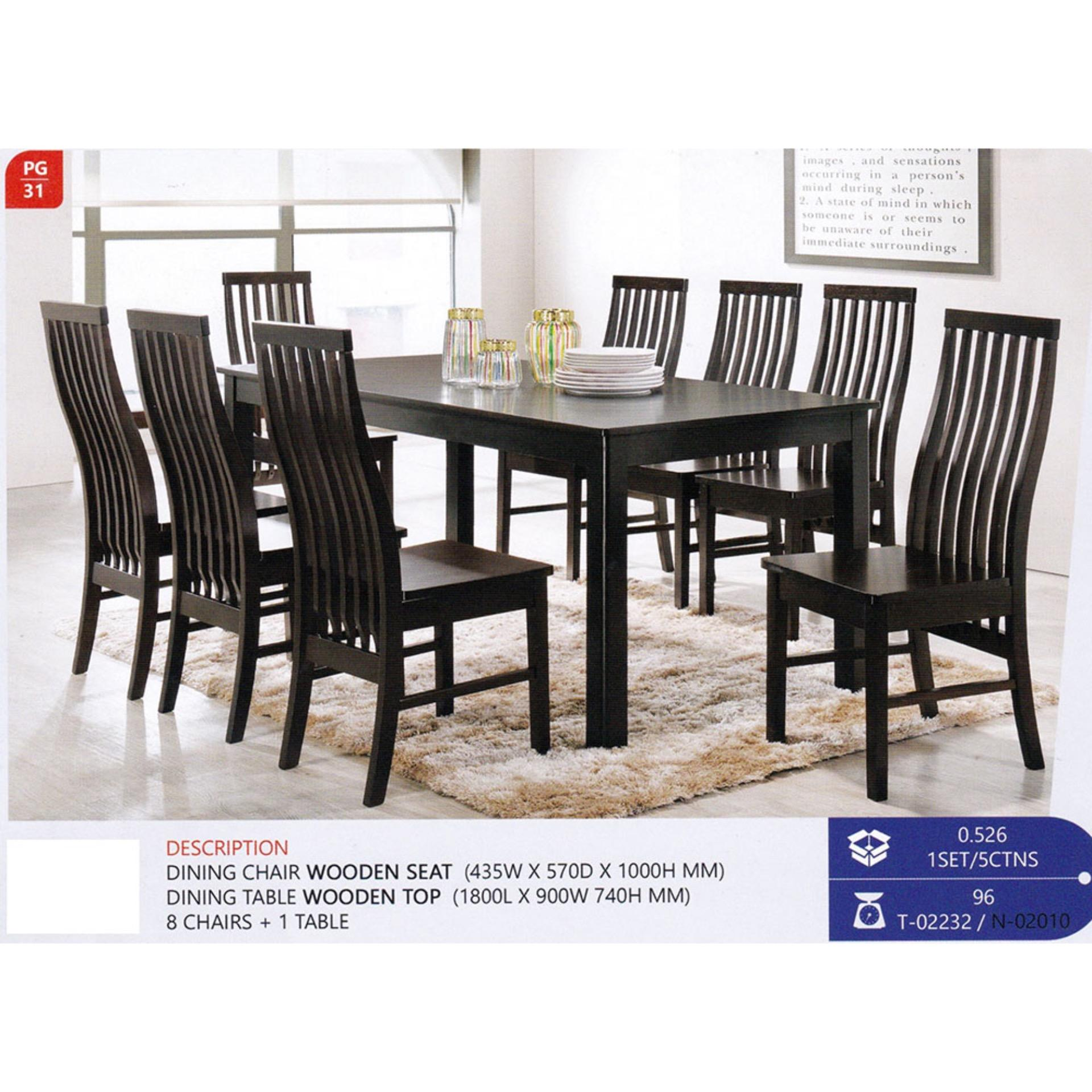 Fully Solid Wood 1 8 Dining Table Chair Set Pre Order Week