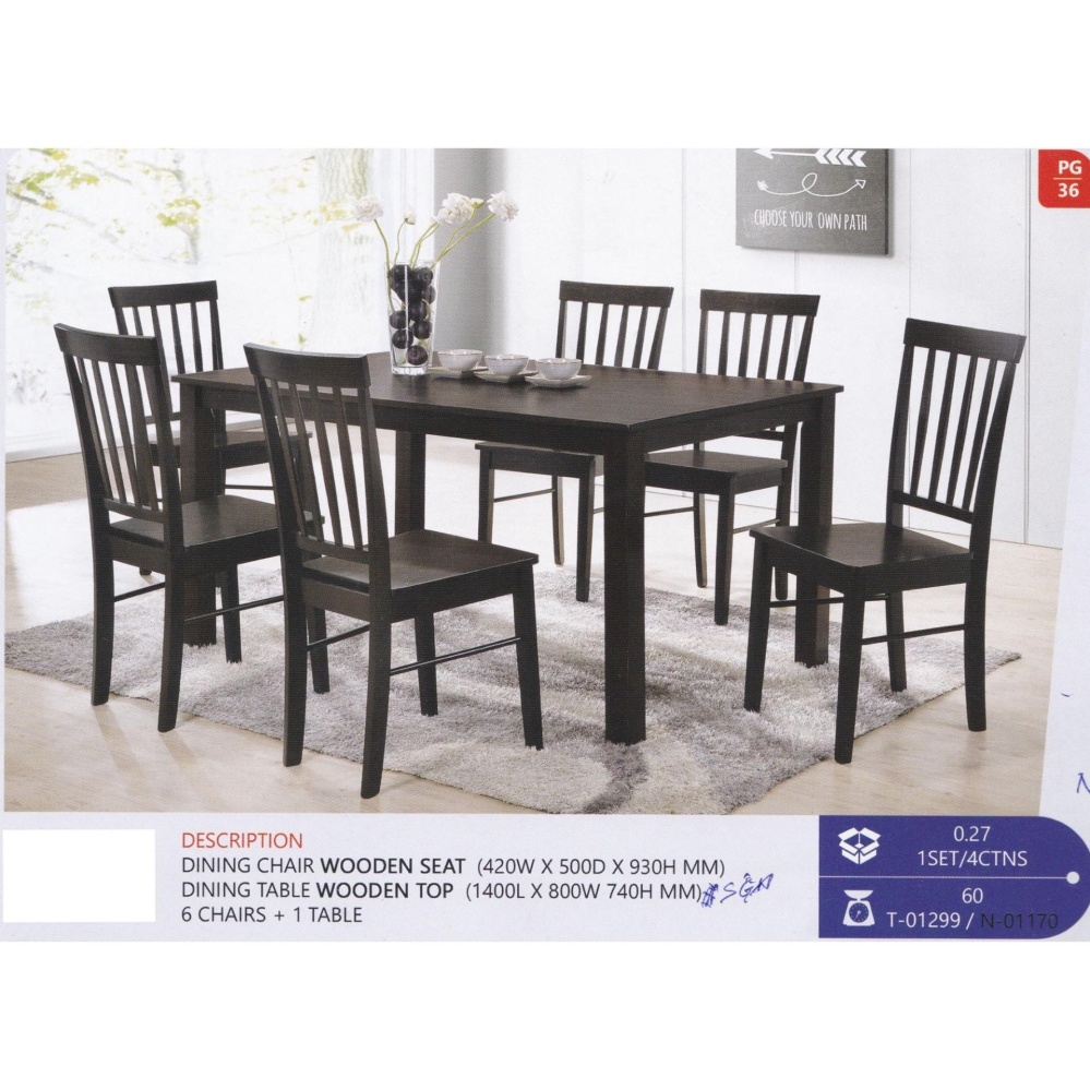 Fully Solid Wood 1 Dining Table 6 D End 5 3 2021 12 00 Am