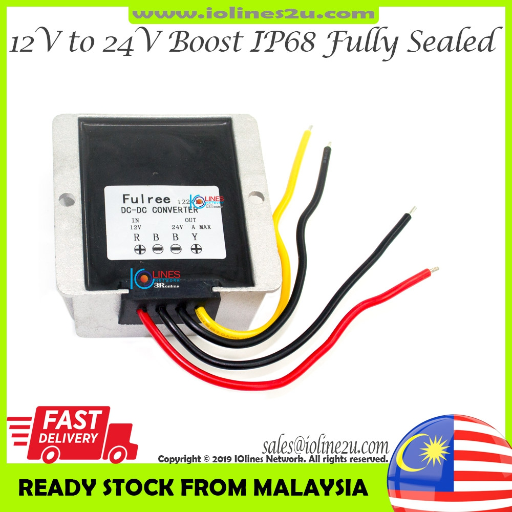 Fulree 12V 10V~20V to 24V 5A 120w Boost DC-DC power converter Step Up Fully se