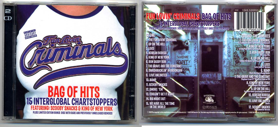 Fun Lovin' Criminals 'Bag Of Hits' 2 CD Set