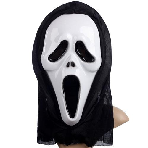 22c63b214df Funny Full Face PVC Realistic Scary Horror Halloween Mask Death Ghost