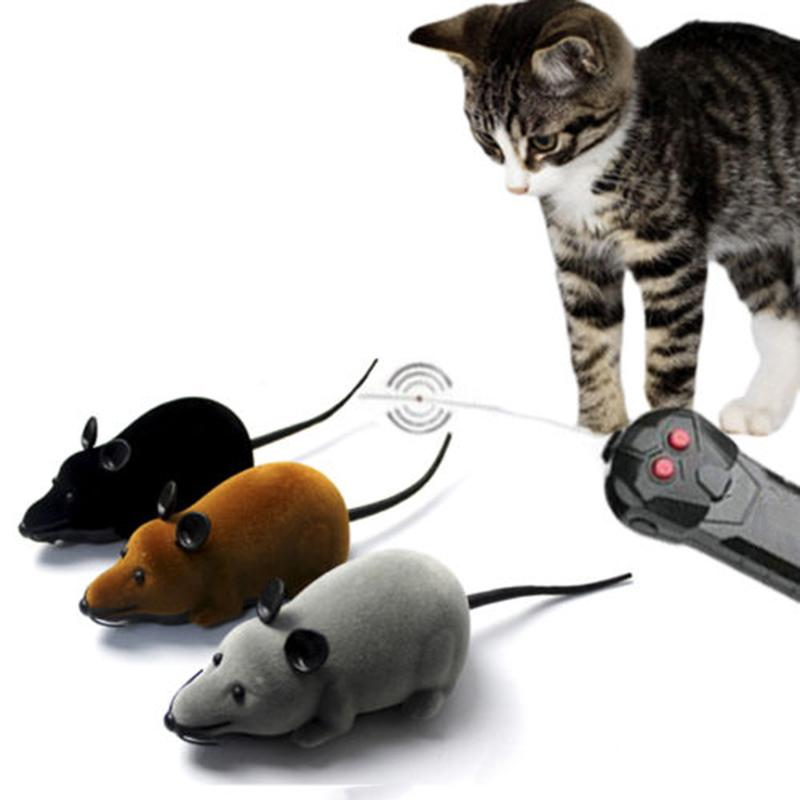 Funny Remote Control RC Wireless Rat Mice Mouse Toy For Cat Dog