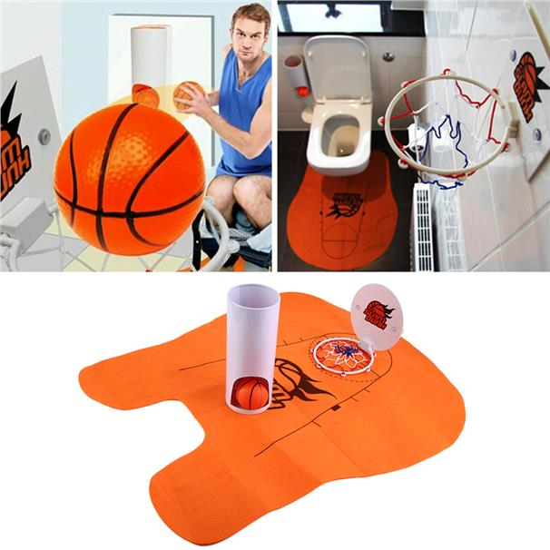 Funny Toilet Basketball Game Gadget -Prank Gift for Basketball Lovers