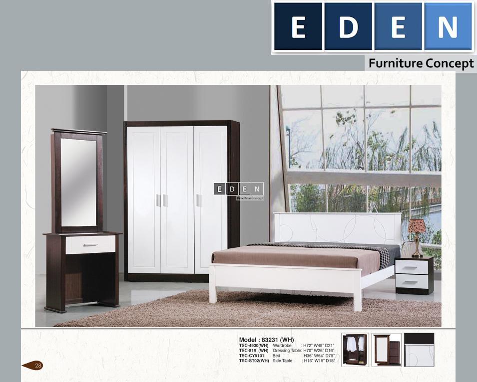 Furniture Malaysia Bed Room Set Bilik Tidur 83231