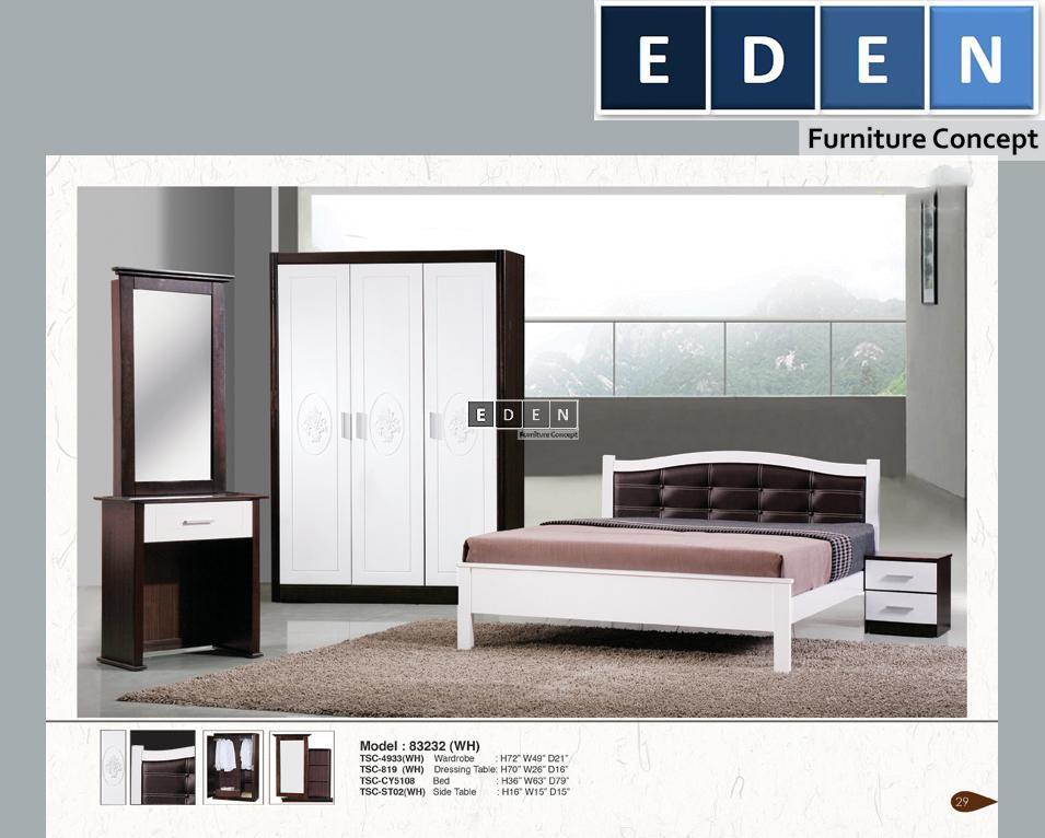 Furniture Malaysia Bed Room Set Bilik Tidur 83232