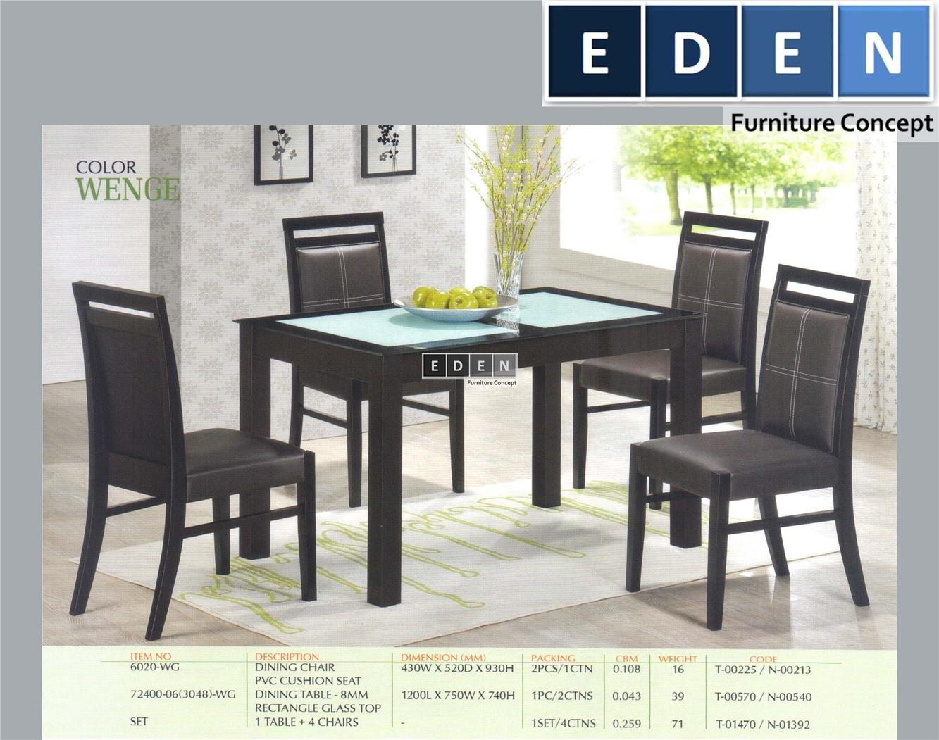Furniture Malaysia Kitchen Dining Table Set Meja Makan 172400s