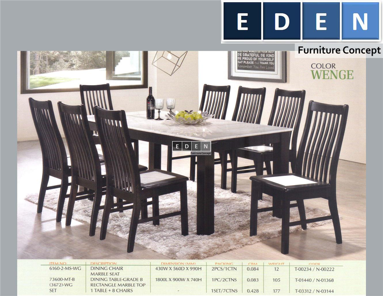 Furniture Malaysia Kitchen Dining Table Set Meja Makan 73600