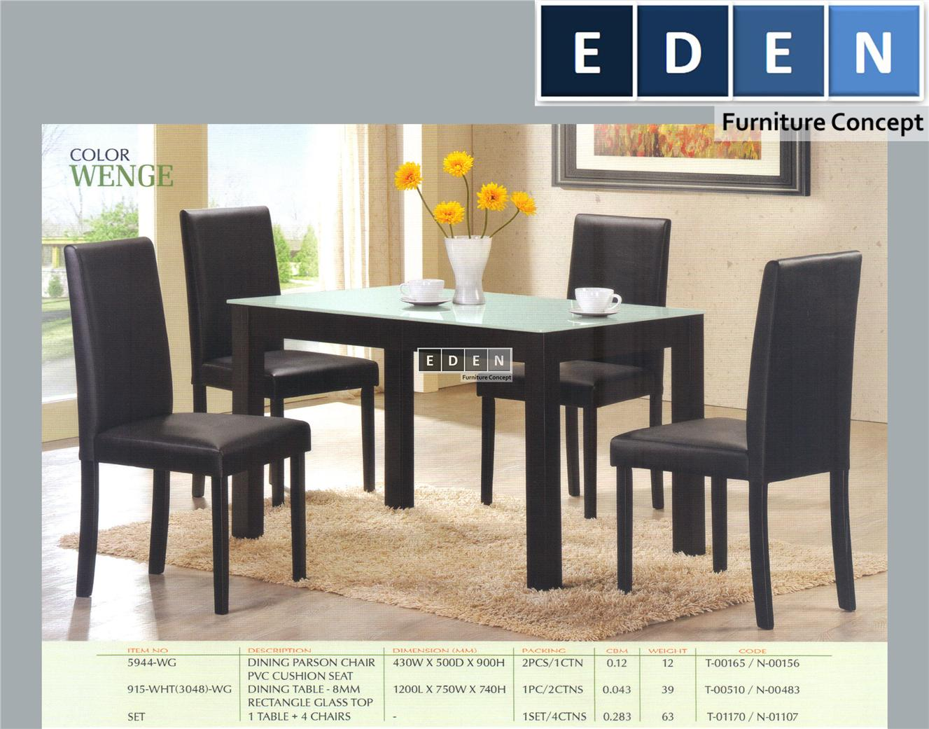 Furniture Malaysia Kitchen Dining Table Set Meja Makan 915whts