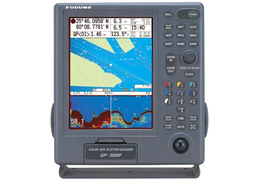 Furuno GP 3500F GPS/DGPS/WAAS 10 4' Inch Chartplotter Fishfinder Combo
