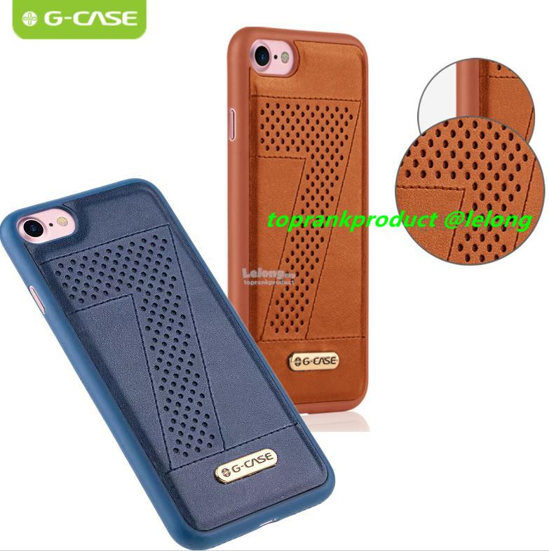 G-Case Apple iPhone 7 Plus PU Leather Silicone Back Case Cover Casing