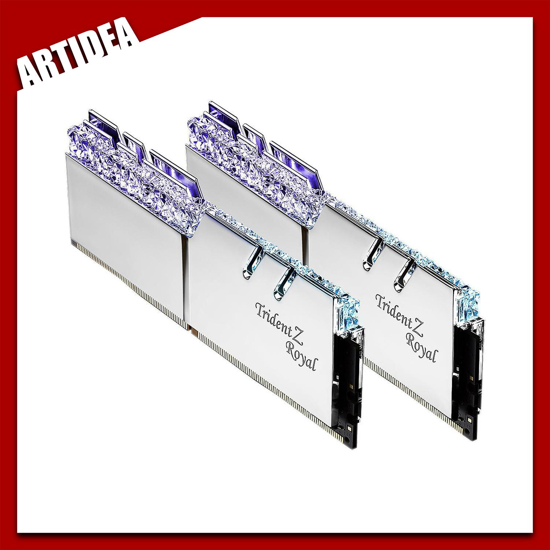 ^ G SKILL TridentZ ROYAL Silver RGB 32GB (2x16GB) DDR4 3600mhz
